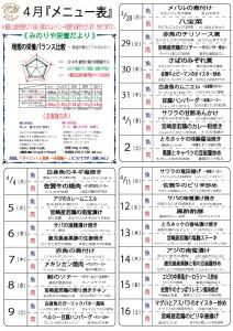 メニュー表・H28.4